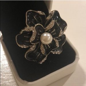 Brand New Floral Pearl Cocktail Ring